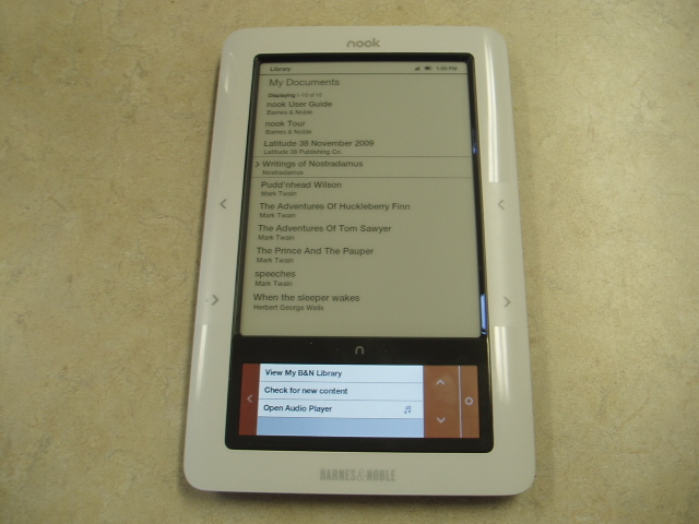 B&amp;N Nook eBook reader